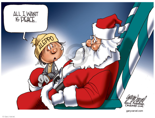 Cartoonist Gary Varvel  Gary Varvel's Editorial Cartoons 2016-12-22 Syria conflict