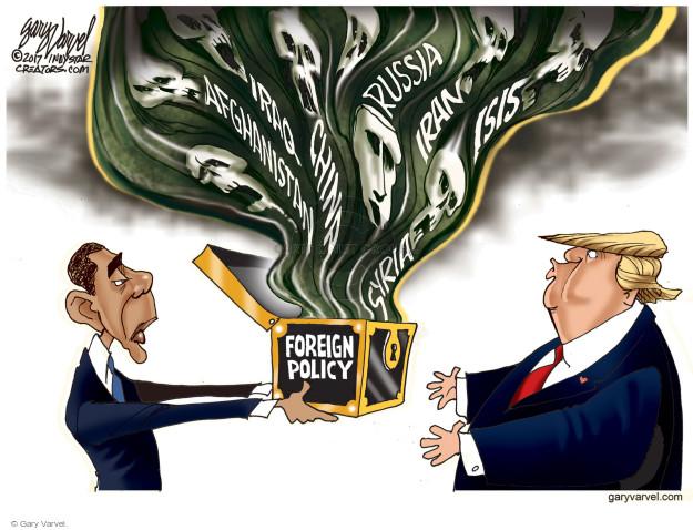 Cartoonist Gary Varvel  Gary Varvel's Editorial Cartoons 2017-01-03 Obama terrorism