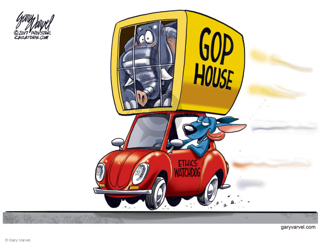 Cartoonist Gary Varvel  Gary Varvel's Editorial Cartoons 2017-01-05 GOP