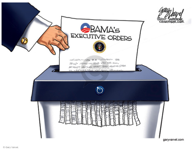 Cartoonist Gary Varvel  Gary Varvel's Editorial Cartoons 2017-01-23 Obama legacy
