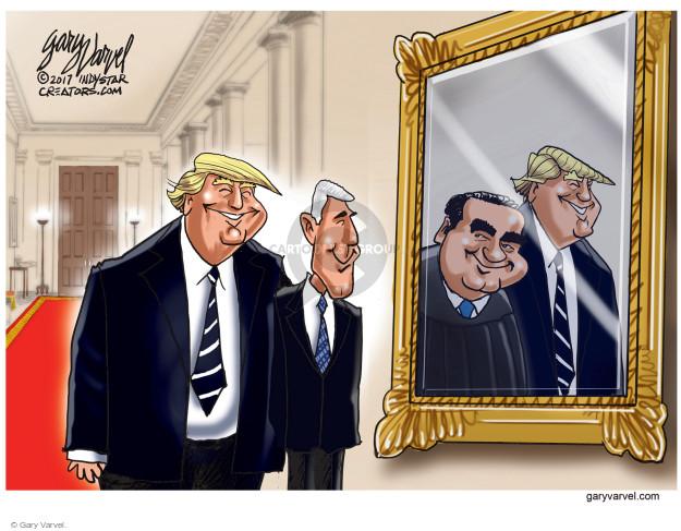 Cartoonist Gary Varvel  Gary Varvel's Editorial Cartoons 2017-02-02 Supreme Court