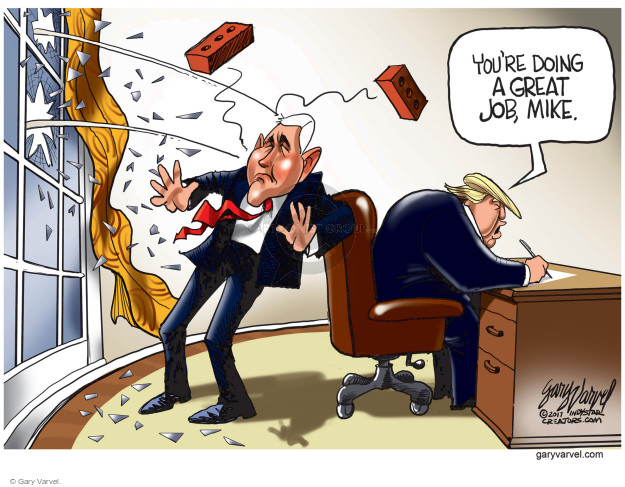 Cartoonist Gary Varvel  Gary Varvel's Editorial Cartoons 2017-02-08 vice president