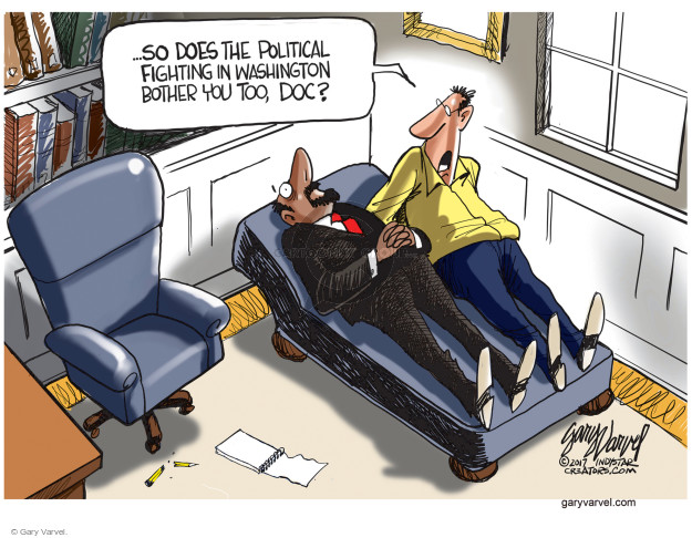 Cartoonist Gary Varvel  Gary Varvel's Editorial Cartoons 2017-02-10 infighting