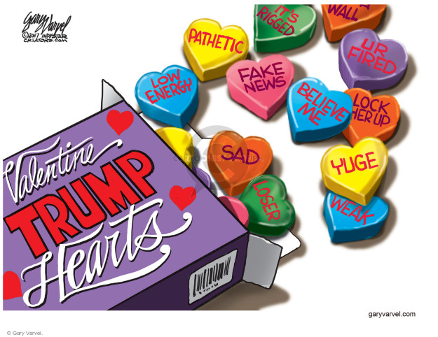 Gary Varvel  Gary Varvel's Editorial Cartoons 2017-02-14 Valentine's Day