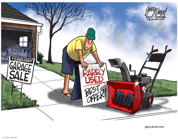 Cartoonist Gary Varvel  Gary Varvel's Editorial Cartoons 2017-02-21 winter weather