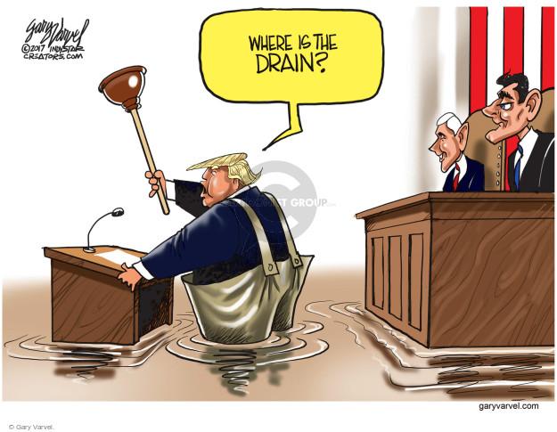 Cartoonist Gary Varvel  Gary Varvel's Editorial Cartoons 2017-03-01 drain