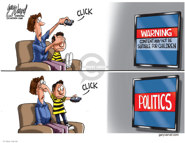 Cartoonist Gary Varvel  Gary Varvel's Editorial Cartoons 2017-03-07 television cartoon