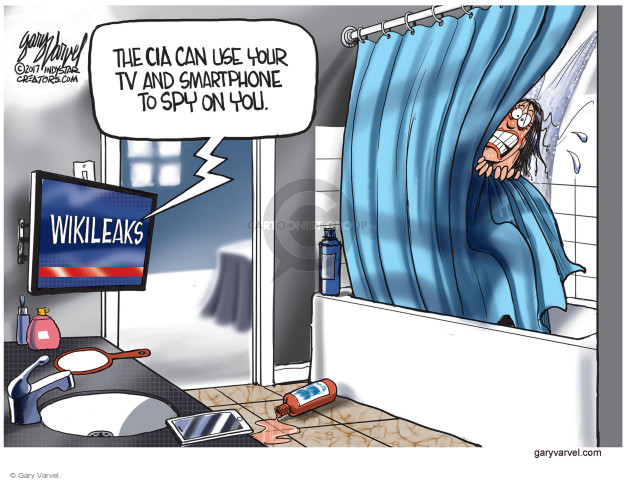 The CIA can use your TV and Smartphone to spy on you. Wikileaks.
