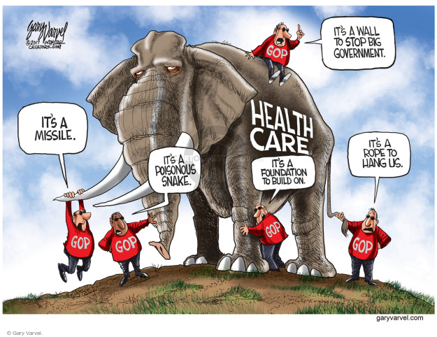 Cartoonist Gary Varvel  Gary Varvel's Editorial Cartoons 2017-03-24 GOP