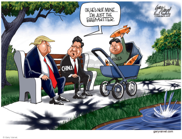 Cartoonist Gary Varvel  Gary Varvel's Editorial Cartoons 2017-04-06 Korea