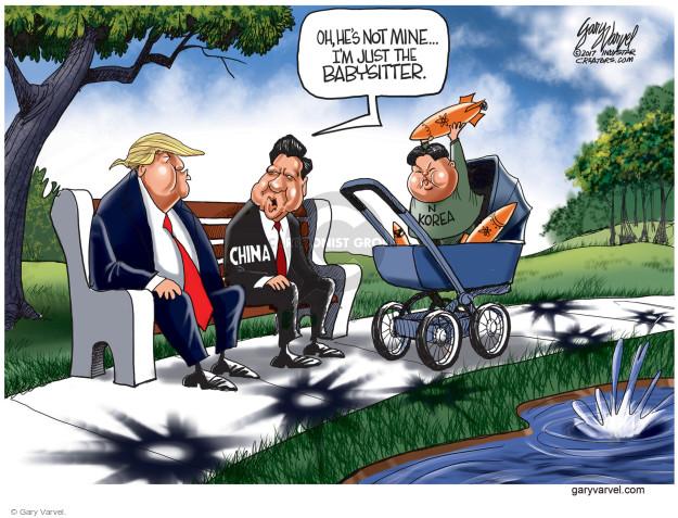 Gary Varvel  Gary Varvel's Editorial Cartoons 2017-04-06 missile