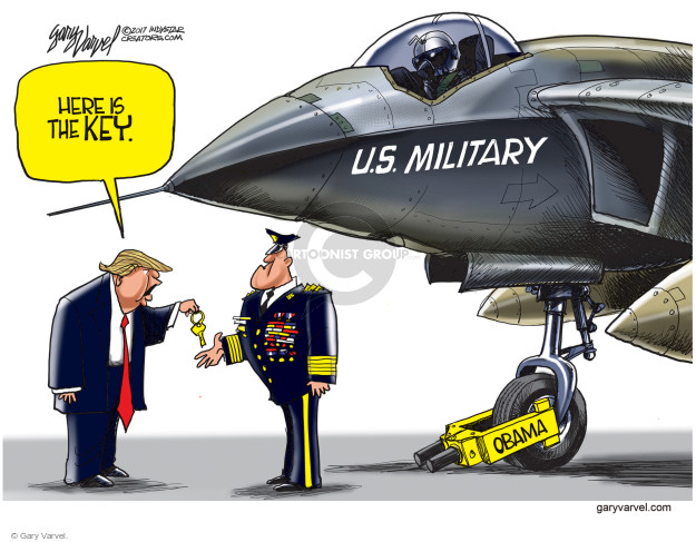 Cartoonist Gary Varvel  Gary Varvel's Editorial Cartoons 2017-04-17 military