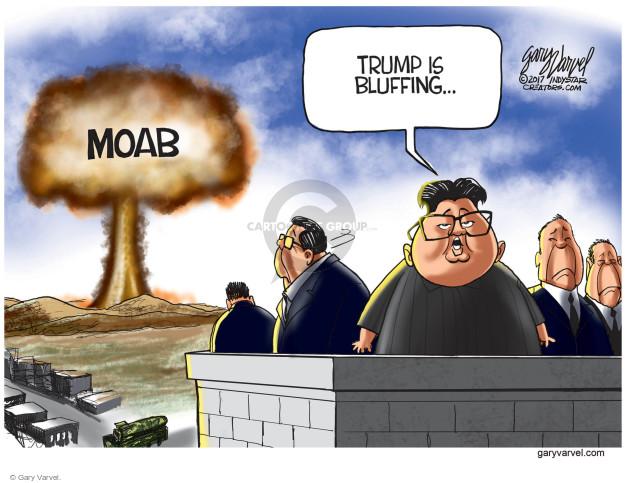 Cartoonist Gary Varvel  Gary Varvel's Editorial Cartoons 2017-04-19 nuclear weapon