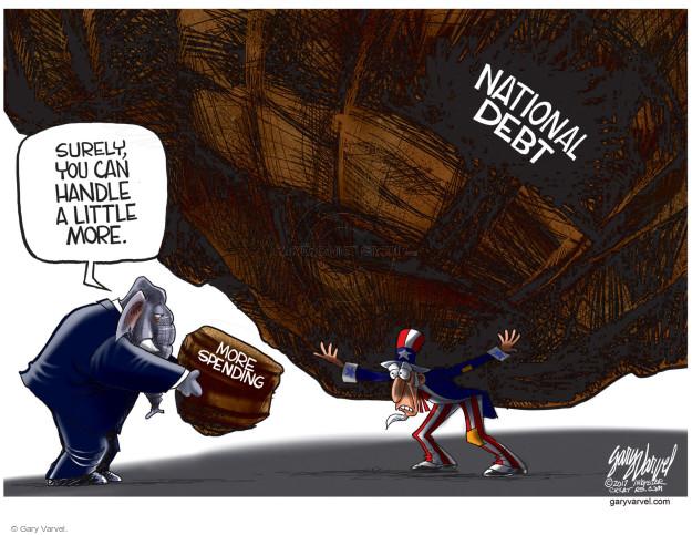 Gary Varvel  Gary Varvel's Editorial Cartoons 2017-04-25 budget deficit
