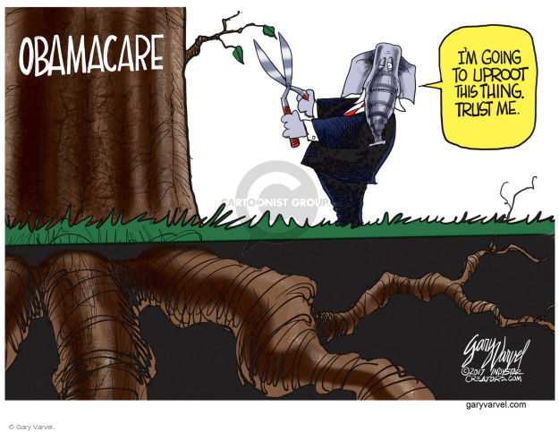 Gary Varvel  Gary Varvel's Editorial Cartoons 2017-05-05 affordable care act