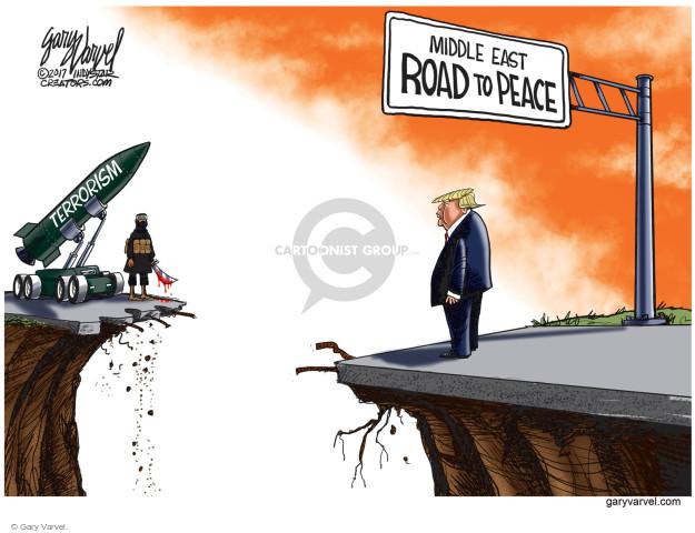 Cartoonist Gary Varvel  Gary Varvel's Editorial Cartoons 2017-05-23 terrorism