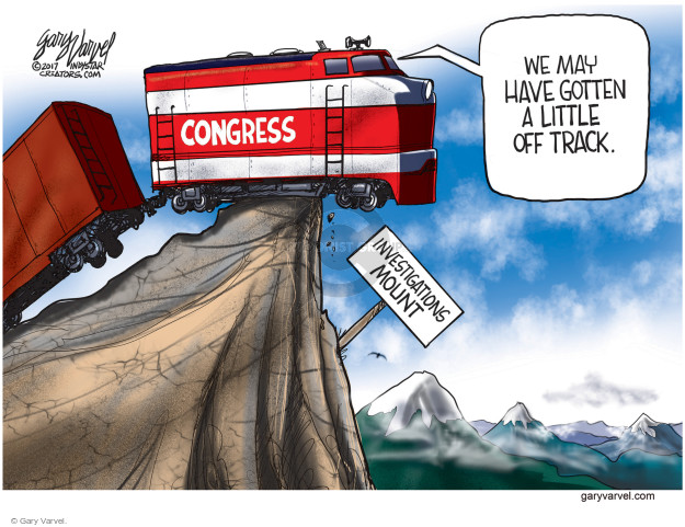 We may have gotten a little off track. Congress. Investigations Mount.