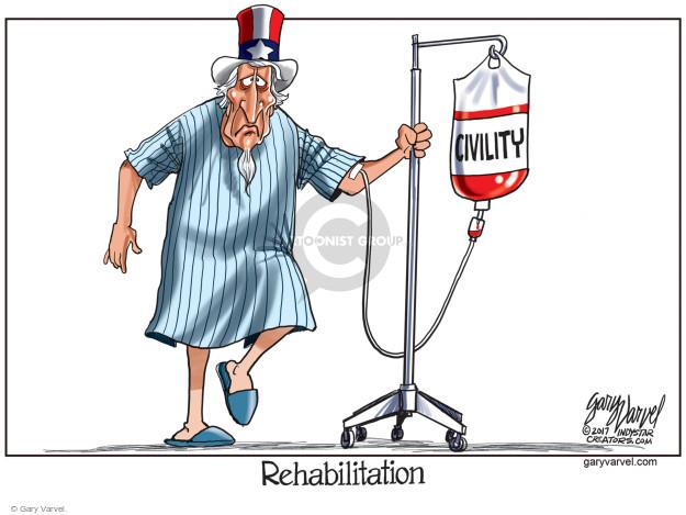 Cartoonist Gary Varvel  Gary Varvel's Editorial Cartoons 2017-06-16 civil