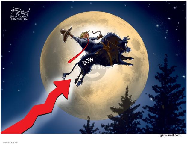Cartoonist Gary Varvel  Gary Varvel's Editorial Cartoons 2017-06-21 stock market