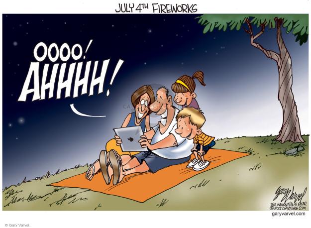 Cartoonist Gary Varvel  Gary Varvel's Editorial Cartoons 2017-07-04 fourth of July