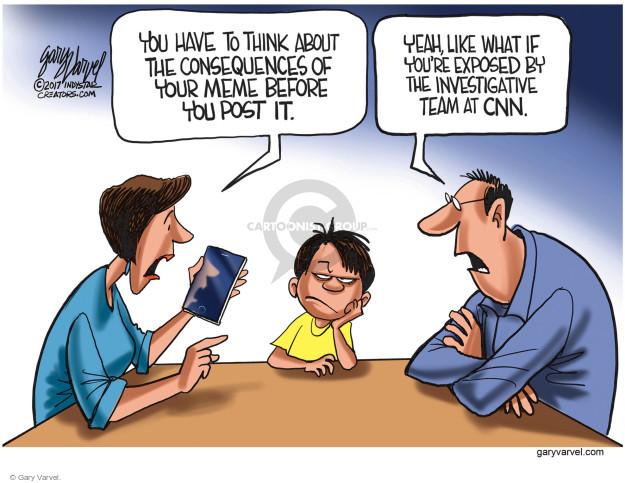 Cartoonist Gary Varvel  Gary Varvel's Editorial Cartoons 2017-07-06 investigative journalism