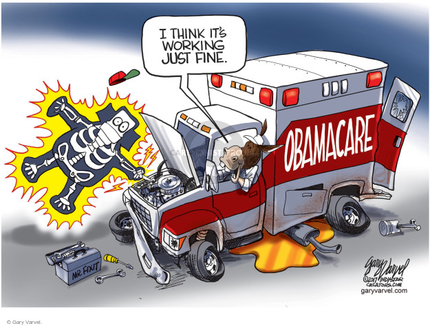 Obamacare.  Mr. Fixit.  I think its working just fine.