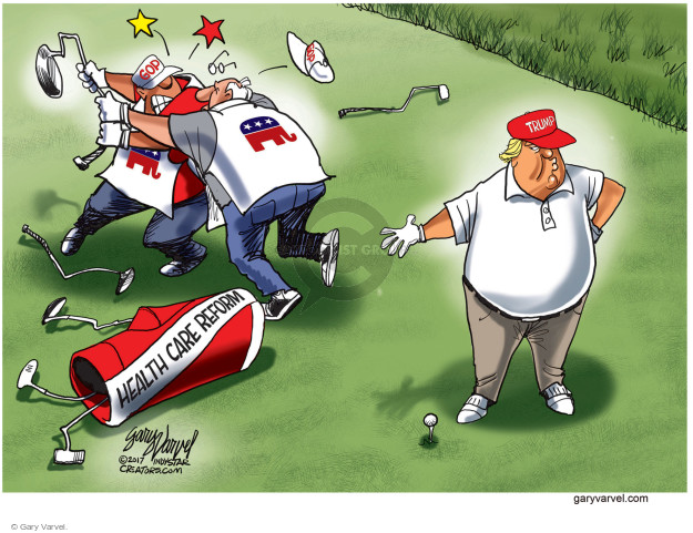Cartoonist Gary Varvel  Gary Varvel's Editorial Cartoons 2017-07-26 reform