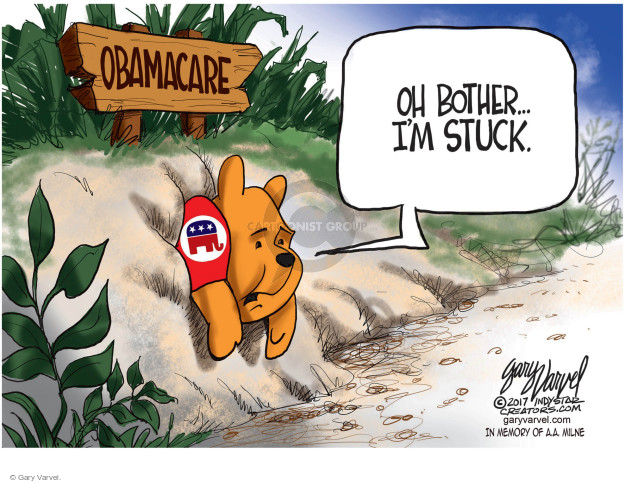 Gary Varvel  Gary Varvel's Editorial Cartoons 2017-07-30 medical insurance