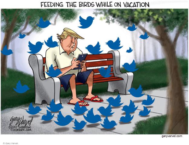 Cartoonist Gary Varvel  Gary Varvel's Editorial Cartoons 2008-09-17 Donald Trump Twitter