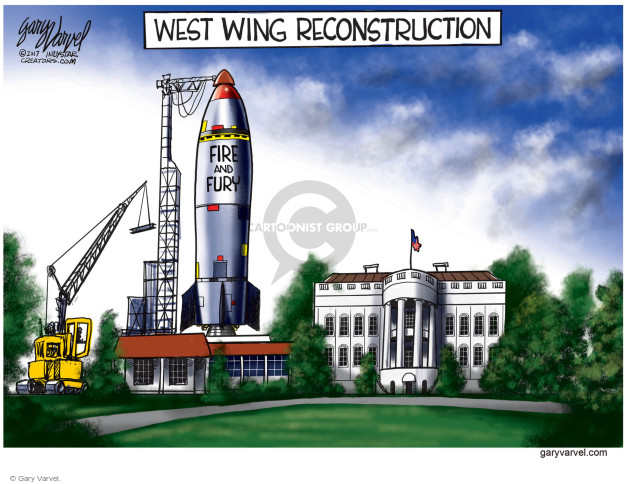 Cartoonist Gary Varvel  Gary Varvel's Editorial Cartoons 2017-08-13 weapon