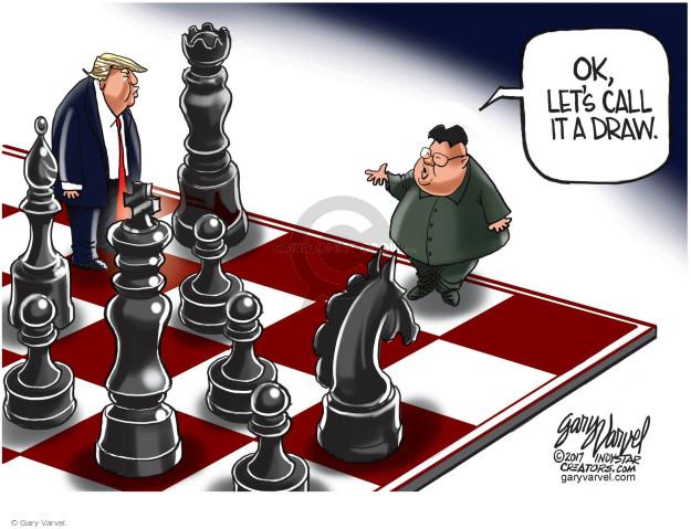 Cartoonist Gary Varvel  Gary Varvel's Editorial Cartoons 2017-08-16 nuclear