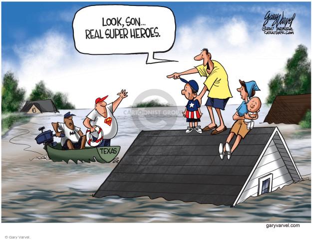 Cartoonist Gary Varvel  Gary Varvel's Editorial Cartoons 2017-08-30 rain