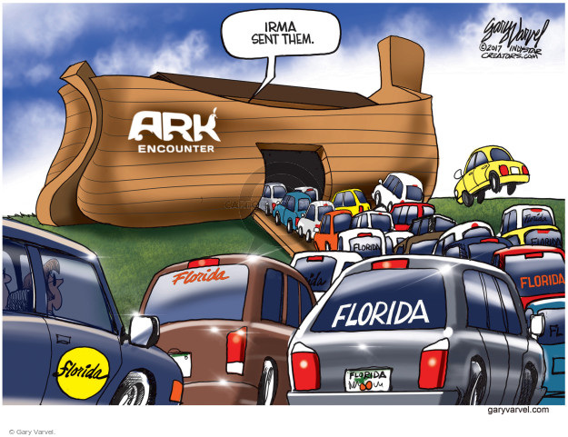 Gary Varvel  Gary Varvel's Editorial Cartoons 2017-09-07 emergency