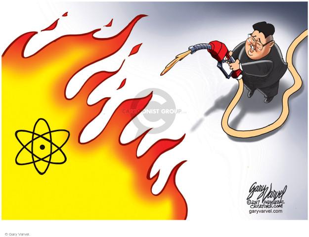 Cartoonist Gary Varvel  Gary Varvel's Editorial Cartoons 2017-09-10 nuclear