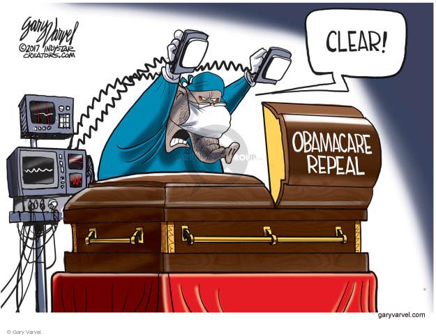 Cartoonist Gary Varvel  Gary Varvel's Editorial Cartoons 2017-09-19 repeal