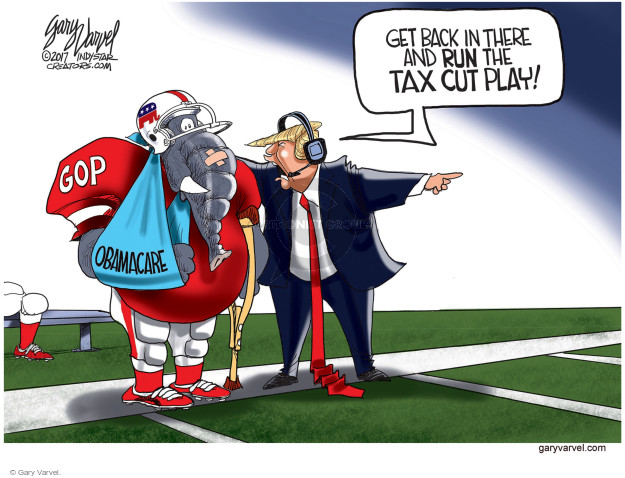 GOP. Obamacare. Get back in there and run the tax cut play!