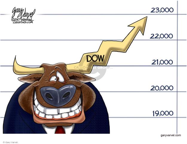 Cartoonist Gary Varvel  Gary Varvel's Editorial Cartoons 2017-10-15 stock market