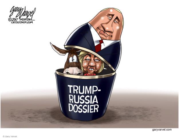 Cartoonist Gary Varvel  Gary Varvel's Editorial Cartoons 2017-10-26 Vladimir Putin