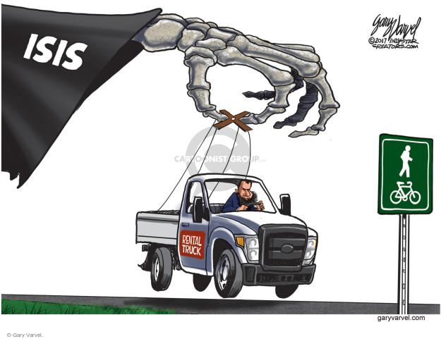 Cartoonist Gary Varvel  Gary Varvel's Editorial Cartoons 2017-11-02 terror