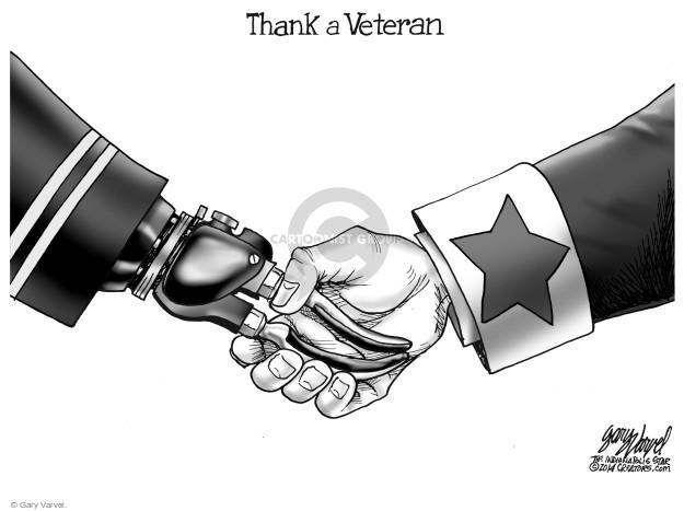Cartoonist Gary Varvel  Gary Varvel's Editorial Cartoons 2017-11-11 military