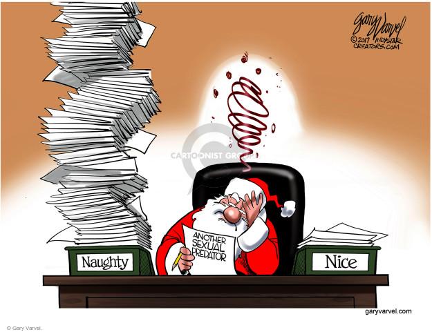 Gary Varvel  Gary Varvel's Editorial Cartoons 2017-11-29 accusation