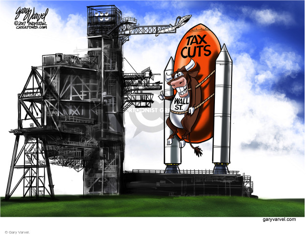 Cartoonist Gary Varvel  Gary Varvel's Editorial Cartoons 2017-12-03 stock market