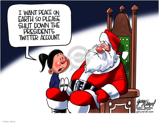 Cartoonist Gary Varvel  Gary Varvel's Editorial Cartoons 2017-12-05 Donald Trump Twitter