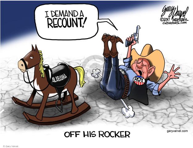 Cartoonist Gary Varvel  Gary Varvel's Editorial Cartoons 2017-12-14 republican candidate