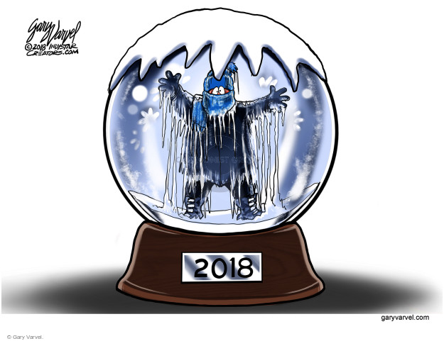 Cartoonist Gary Varvel  Gary Varvel's Editorial Cartoons 2018-01-03 weather