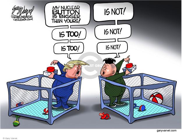 Cartoonist Gary Varvel  Gary Varvel's Editorial Cartoons 2018-01-04 nuclear