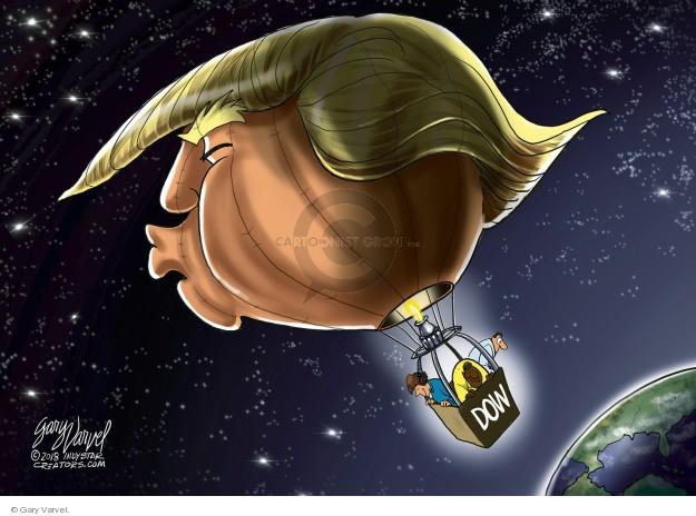 Cartoonist Gary Varvel  Gary Varvel's Editorial Cartoons 2018-01-21 stock market