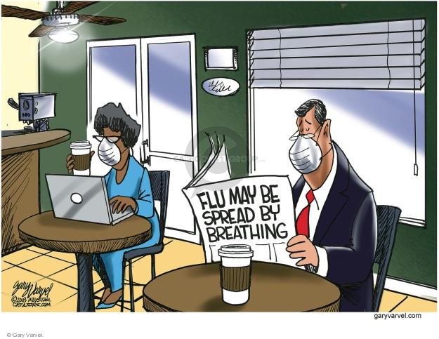 Cartoonist Gary Varvel  Gary Varvel's Editorial Cartoons 2018-01-22 flu