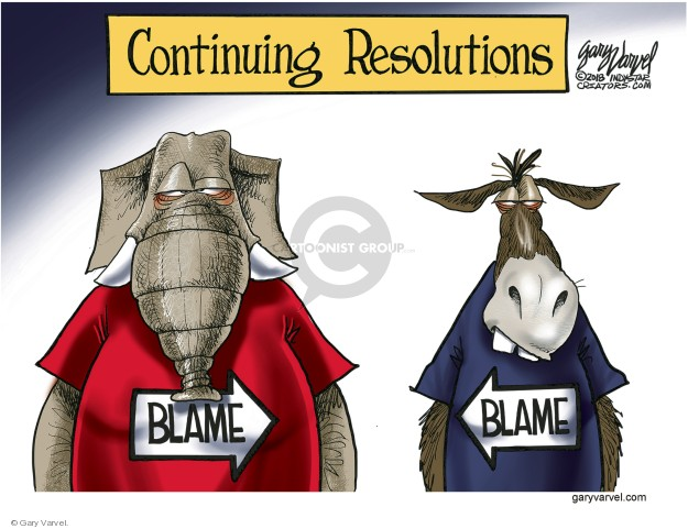 Continuing Resolutions. Blame. Blame.