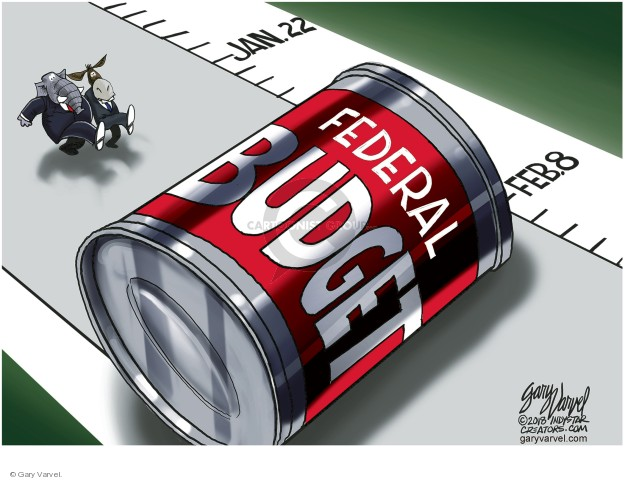 Gary Varvel  Gary Varvel's Editorial Cartoons 2018-01-24 federal budget